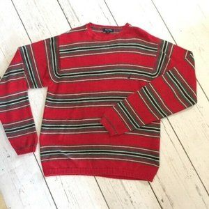 Náutica Men's Size Medium Sweater Crewneck Red Gra